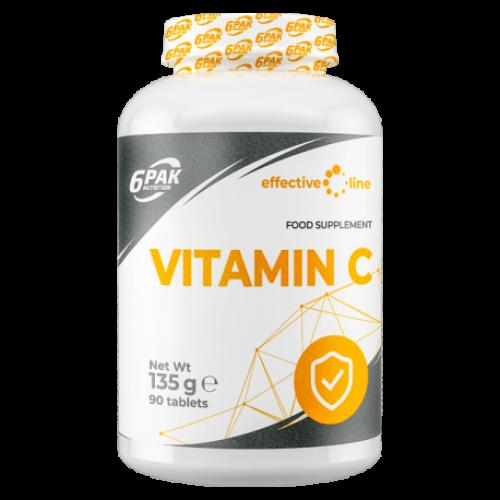 6PAK Nutrition Effective Line Vitaminas C 1000mg 90 tabl.