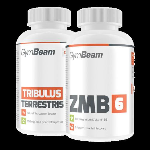 GymBeam Tribulus Terrestris 90% 120 kaps. ir ZMA 120 kaps.