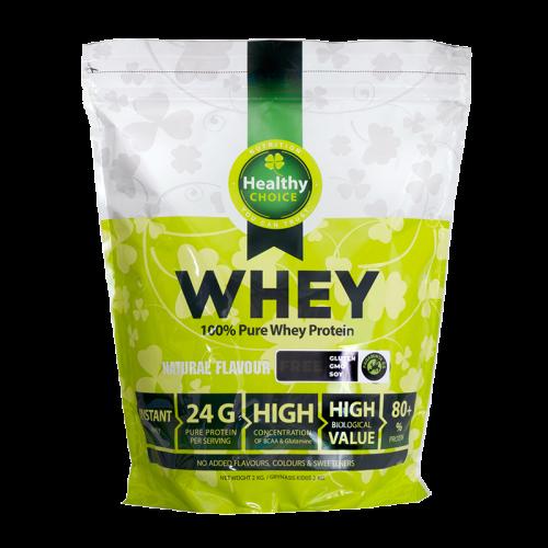 Healthy Choice 100% išrūgų baltymai 2000g arba 1000 g