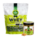 Healthy Choice 100% išrūgų baltymai 2000g/1000g ir migdolų sviestas dovanų!