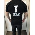 Team Kulturizmas.net marškinėliai Juodi su kamufliažine