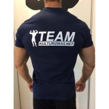 Team Kulturizmas.net marškinėliai mėlyni