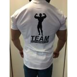 Team Kulturizmas.net marškinėliai balti su juodu