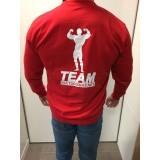 Team Kulturizmas.net džemperis be kapišono raudonas