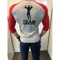 Team Kulturizmas.net marškinėliai pilki su raudonu