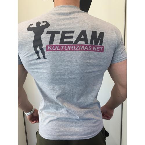 Team Kulturizmas.net marškinėliai pilki (nauji)