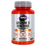NOW Sports Arginine&Ornithine (argininas ir ornitinas) 100 kaps.