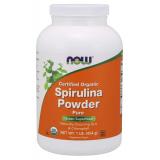 NOW Supplements Organic Spirulina milteliais 113 g