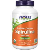 NOW Supplements Organic Spirulina 500 mg 200 tabl.