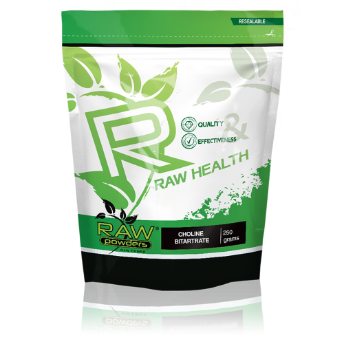 Raw Powders Choline Bitartrate (Cholino Bitartratas) 250 g