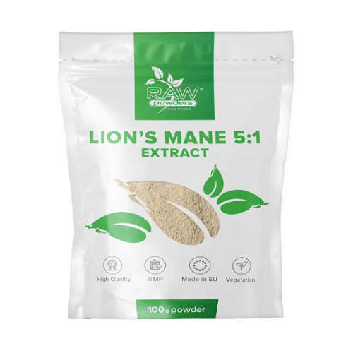 Raw Powders Lion's Mane 5:1 ekstraktas 100g