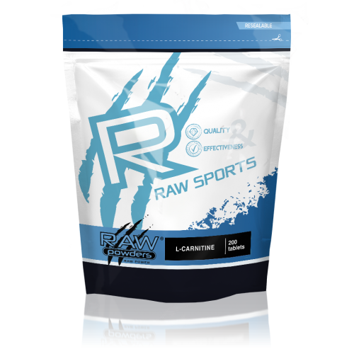 Raw Powders L-karnitinas tabletėmis