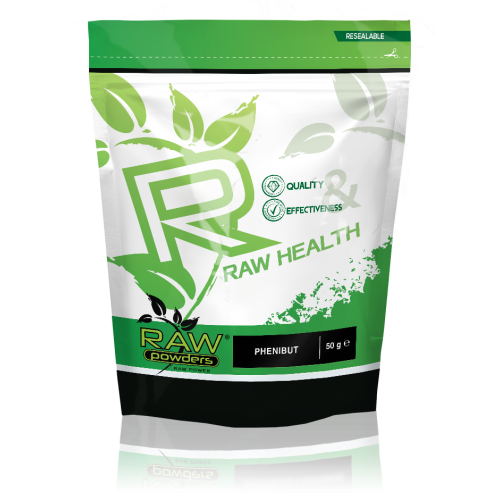 Raw Powders Phenibut (50g, 100g arba 90 kaps.)