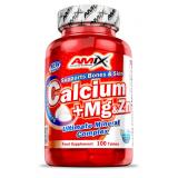 Amix Calcium+Mg+Zn (kalcio, magnio ir cinko kompleksas) 100 tabl.