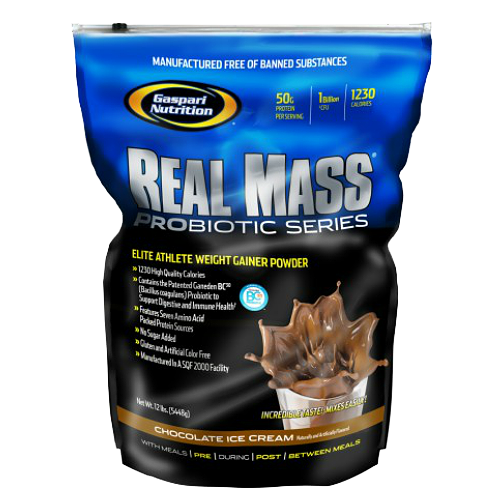 Gaspari Nutrition Real Mass Probiotic 5400 g + Shaker 3in1 dovanų!
