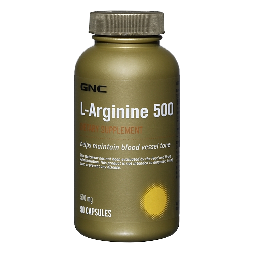 GNC L-Arginine 500 90 kaps.