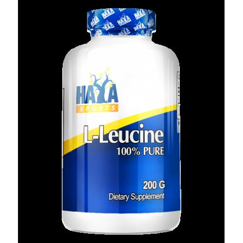 Haya Labs L-Leucine 100% Pure 200 g ir maikutė dovanų