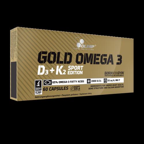 Olimp Gold Omega 3 D3+K2 Sport Edition
