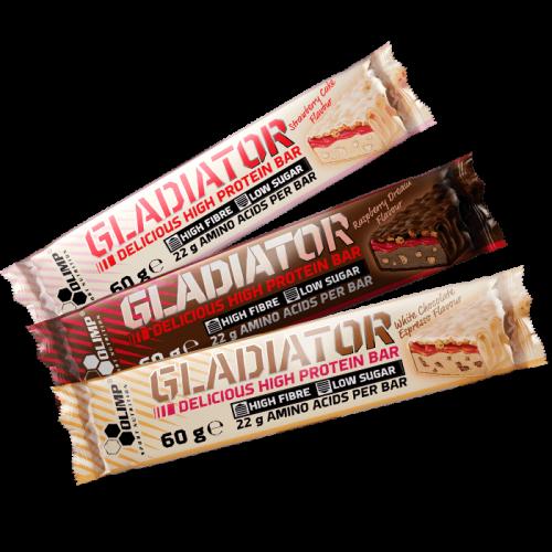 Olimp Gladiator baltyminis batonėlis 60 g (nauji skoniai!)