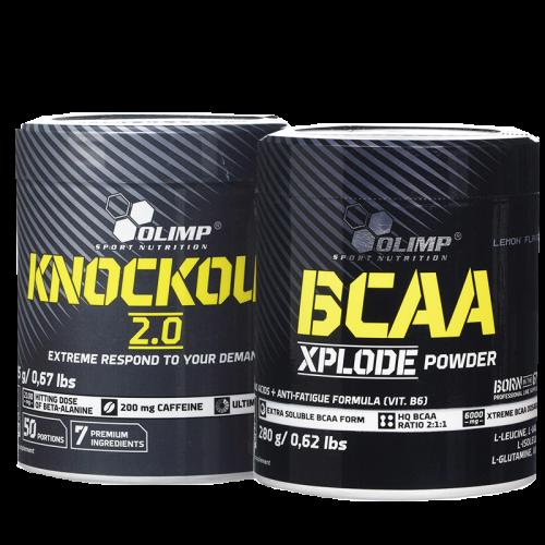 Olimp Knockout 2.0 305g ir BCAA Xplode 280 g dovanų!