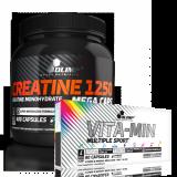 Olimp Creatine Mega Caps 1250 mg 400 kaps. ir Olimp vitaminai dovanų!