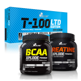 Olimp rinkinys: T-100 LTD Edition, Creatine Xplode ir Bcaa Xplode