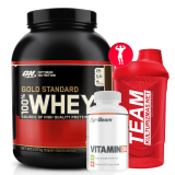 100% Whey Gold Standard 2250 g ir dvi dovanos!!!