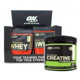 Optimum Nutrition Whey Gold 24x30g ir dovanų kreatinas!