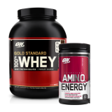 Optimum Nutrition rinkinys: Whey Gold ir Amino Energy