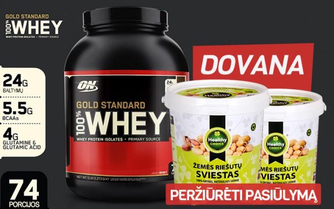100% Whey Gold Standard 2250 g ir vertinga dovana