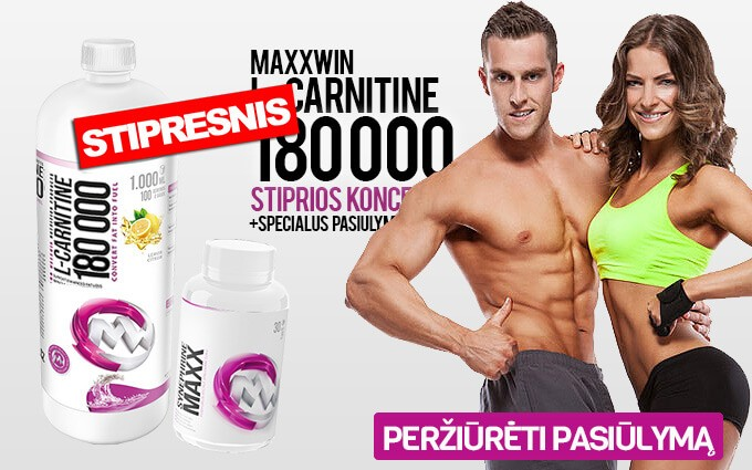 MaxxWin L-Carnitine 150 000 1000 ml ir dovana!