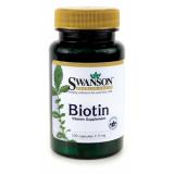 Swanson Biotin 5000mcg 100 kaps.