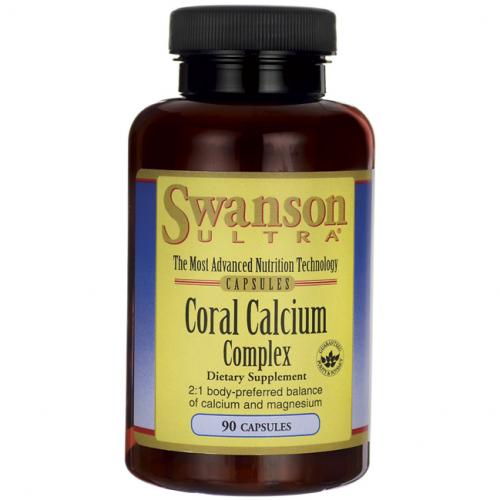 Swanson Coral Calcium Complex 90 kaps.
