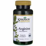 Swanson L-arginine (L-argininas) 500 mg 100 kaps.