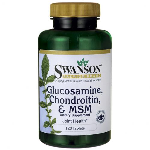 Swanson Glucosamine, Chondroitin, MSM 120 tabl.