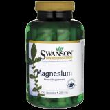Swanson Magnesium 200mg 250 kaps.