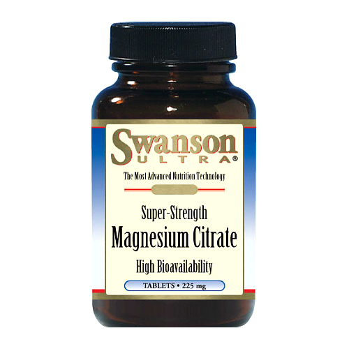 Swanson Ultra Super-Strength Magnesium Citrate 225mg 120 tabs.