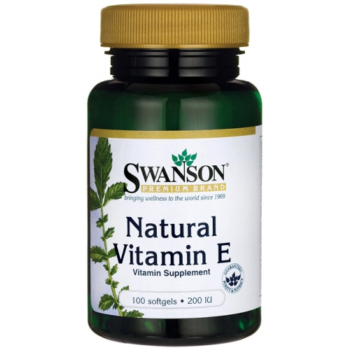 Swanson Natural Vitaminas E 100 kaps.