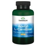 Swanson Acetyl L-Carnitine (Acetil-L-karnitinas) 500 mg 100 kaps.