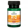 Swanson Vitaminas K2 (menachinonas-7) 30 kaps.