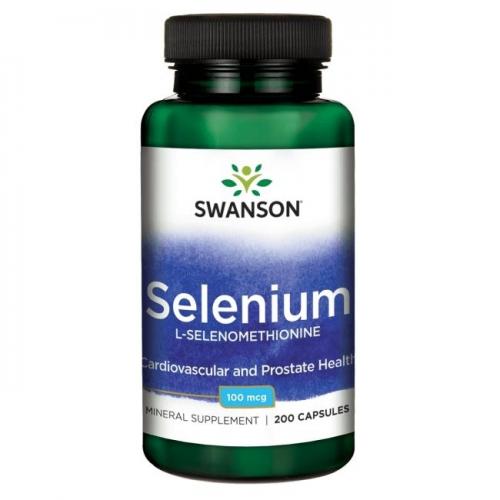 Swanson Selenium (selenas) 100mcg 200 kaps.