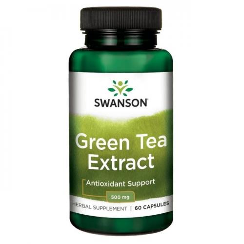 Swanson Green Tea Extract (žaliosios arbatos ekstraktas) 60 kaps.