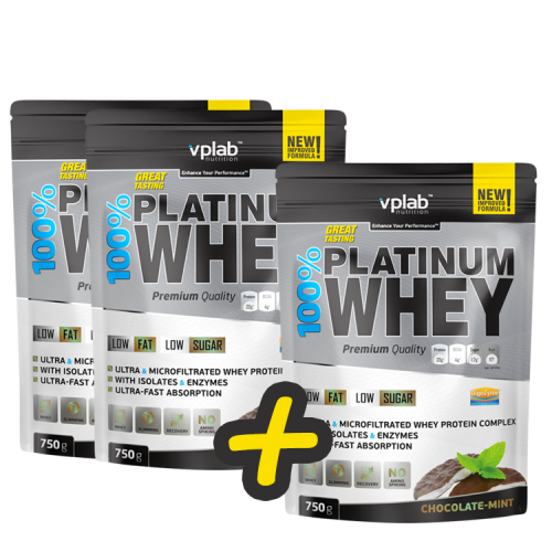 VPLab 100% Platinum Whey (2+1 dovanų !!!)