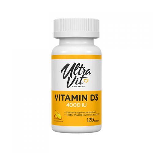 UltraVit (VpLab) Vitaminas D3 4000 IU 120kaps