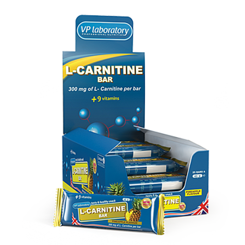 VPLab L-Carnitine Bar 45 g (3 vnt.)