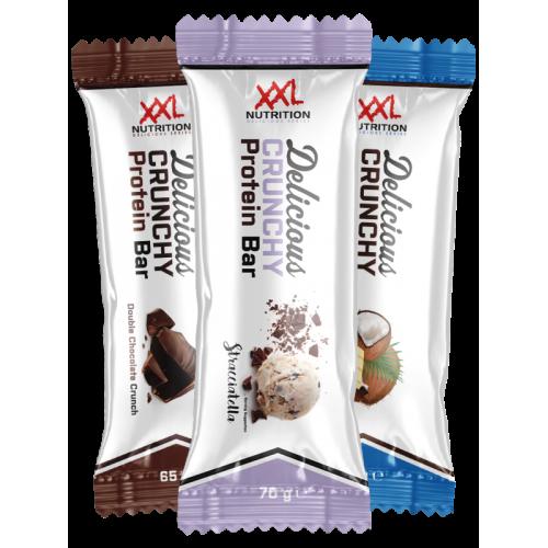 XXL Nutrition Delicious CRUNCHY baltyminis batonėlis 65g
