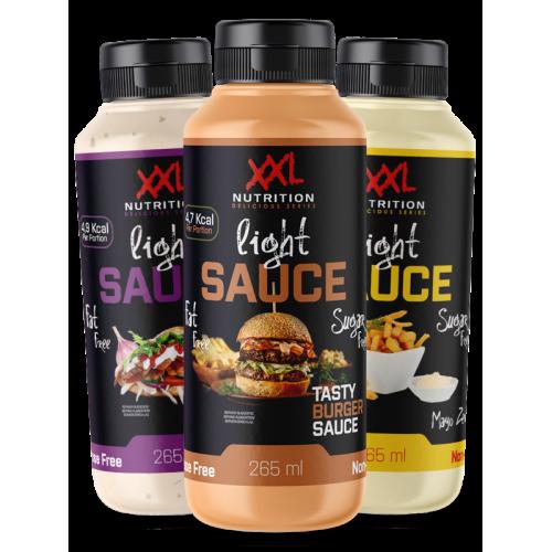 XXL Nutrition Light Sauce 265 ml ir 960 ml (padažai 17 skonių!)