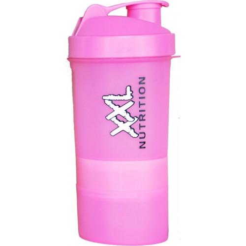 XXL Nutrition Smart Shake rožinė plaktuvė 600 ml