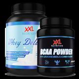 XXL Nutrition Whey Delicious 1kg, BCAA 500 g ir DOVANOS!