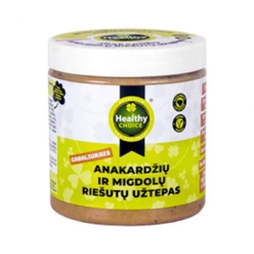 Healthy Choice anakardžių ir migdolų riešutų užtepas 250g